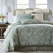CLOSEOUT! Royal Velvet® Azure 4-pc. Chenille Comforter Set & Accessories