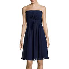 Blu Sage Strapless Ruched Dress