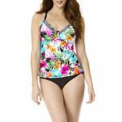 St. John's Bay® Floral Ring-Front Tankini Swim Top or Swim Bottoms