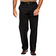 IZOD® Wrinkle–Resistant Flat–Front Twill Pants–Big & Tall