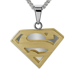 DC Comics® Superman Two-Tone Stainless Steel Pendant Necklace