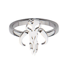 Star Wars® Stainless Steel Mandalorian Symbol Cutout Ring