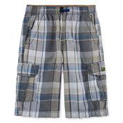UNIONBAY® Lyle Plaid Cargo Shorts - Boys 8-20