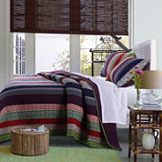Greenland Home Fashions Marley Bohemian Striped Quilt Set