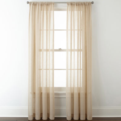 Rod Pocket Sheer Curtains for Window - JCPenney