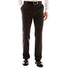 JF J. Ferrar® Solid Flat–Front Pants–Big & Tall