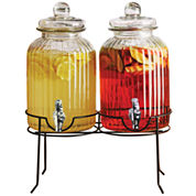 Circleware Double Beverage Dispenser with Stand