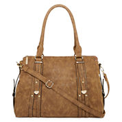 Louis Cardy Metal Tab Detailed Double Handle Satchel