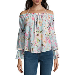 Buffalo Jeans Tie Front Off The Shoulder Top