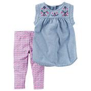 Carter's Ib 2pc Sets Legging Set-Baby Girls