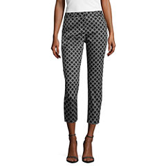 Worthington Worthington Sateen Crop Cropped Pants