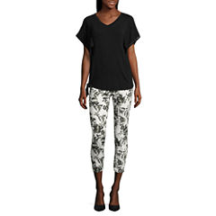 i jeans by Buffalo Lace Back Side Tie Top or Jeggings