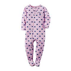 Carter's® Heart Footed Pajamas - Baby Girls newborn-24m
