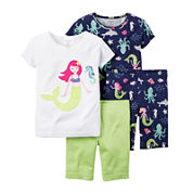 Carter's® 4-pc. Mermaid Pajama Set - Baby Girls newborn-24m