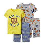 Carter's® 4-pc. Snacker Pajama Set - Toddler Boys 2-5t