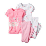Carter's® Flamingo 4-pc. Pajama Set - Toddler Girls 2t-5t