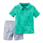 Carter's® Anchor Polo and Shorts Set - Toddler Boys 2t-5t