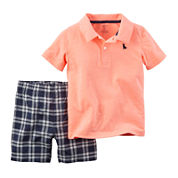 Carter's® Neon Polo and Shorts Set - Baby Boys newborn-24m