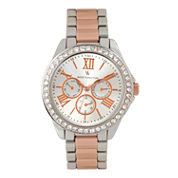 Worthington Womens Two Tone Bracelet Watch-Wt00006-05