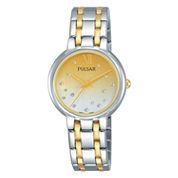 Pulsar Womens Two Tone Bracelet Watch-Ph8303
