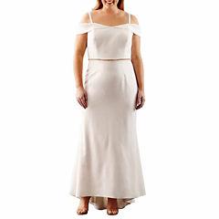 Scarlett Cold Shoulder Evening Gown-Plus