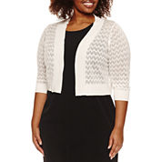 Ronni Nicole 3/4 Sleeve Shrug-Plus