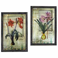 Framed French Floral Art Floral Print