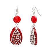 Mixit™ Red Shell Teardrop Earrings