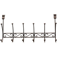 Home Basics 6-Hook Bronze Over-the-Door Hanging Rack