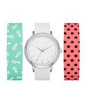 Mixit Womens Multicolor Strap Watch-Fmdjps093