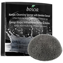 boscia Konjac Cleansing Sponge With Bamboo Charcoal