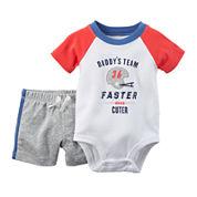 Carter's® Short-Sleeve Bodysuit and Shorts Set - Baby Boys newborn-24
