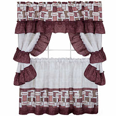 Inspiration Cottage Window Tier and Ruffled Topper Set