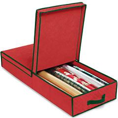 Whitmor Gift Wrap and Ornament Storage Box