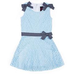 Girls Rule Short Sleeve Pattern A-Line Dress - Baby Girls