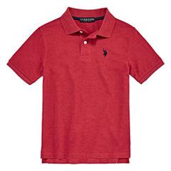 U.S. Polo Assn. Short Sleeve Pique Polo Shirt - Big Kid Boys