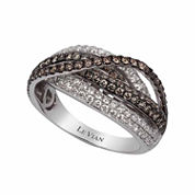 Le Vian Womens 1 3/8 CT. T.W. Champagne Diamond 14K Gold Crossover Ring