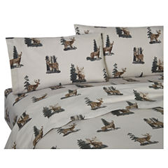 Blue Ridge Trading Whitetail Dreams Sheet Set Twin Cotton Sheet Set