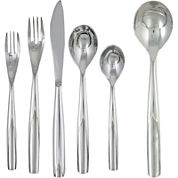 Ginkgo Charlie 42-pc. 18/10 Stainless Steel Flatware Set