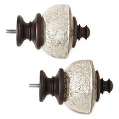 JCPenney Home™ Mix & Match Set of 2 Mercury Glass Finials