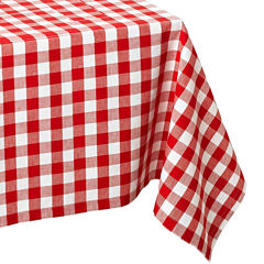 Design Imports Checkers Red & White Tablecloth
