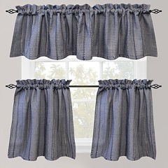 Park B. Smith Eyelet Chambray Rod-Pocket Kitchen Curtains