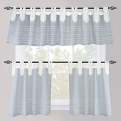 Park B. Smith Nordic Bands Tab-Top Kitchen Curtains
