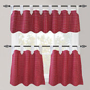 Park B. Smith Picnic Check Tab-Top Kitchen Curtains