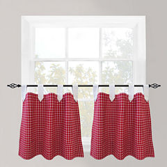 Park B. Smith® Picnic Check Tab-Top Window Tiers