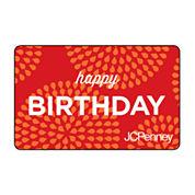 Happy Birthday Sunburst Gift Card