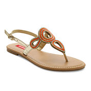 UNIONBAY® Beaded Slingback Flat Sandals