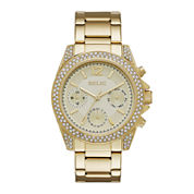 Relic® Womens Crystal Gold-Tone Bracelet Watch