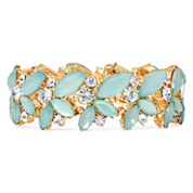 Vieste® Mint Stone Gold-Tone Stretch Bracelet