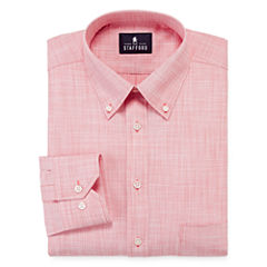 Stafford® Long-Sleeve Broadcloth Linen Look Dress Shirt